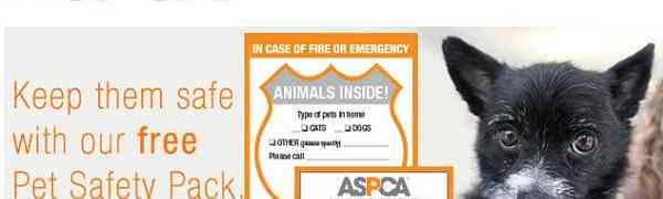 Free ASPCA Pet Safety Magnet & Window Decal