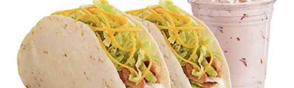 2 Free Chicken Tacos & Shake